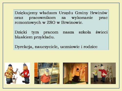 Remont szkoly_podziekowanie