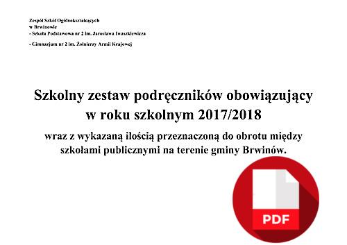 DOSTĘPNE podręczniki 2017 2018