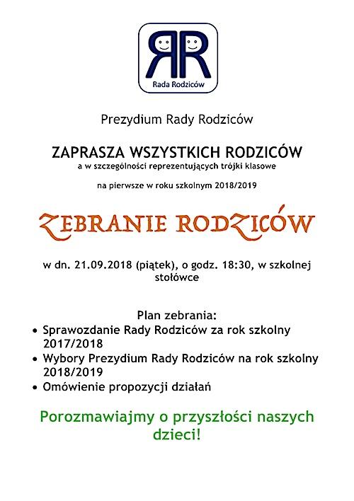 RadaRodziców_Plakat_ Zebranie_21.09.2018